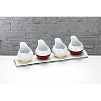 Fidex Home Porselen 4'Lü Sosluk