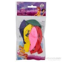 Prenses Poşet İçi 6'Lı Balon (4 Renk Baskılı)