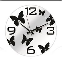 Time Gold Aynalı Duvar Saati Çiçek