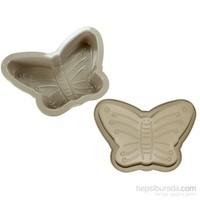 iHouse 1407 Silikon Kelebek Kek Kalıbı Sütlü Kahve