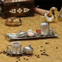 Sena Semazen Mini Dikdörtgen 2'li Kahve Seti