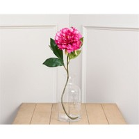 Madame Coco Dekoratif Yapay Çiçek Koyu Pembe Şakayık 45 Cm