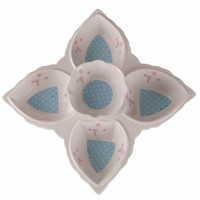 D-Sign Home Porselen Çiçek Kahvaltılık Mavi
