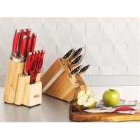 Schafer 15 Parça İnox Monoblock Çelik Bıçak Seti Kırmızı
