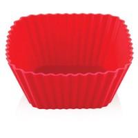 Argem Silikon Mercan Kare Muffin Kek Kalıbı 4'Lü