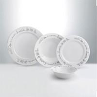 Emsan Anadolu 24 Parça Porselen Yemek Tk. Beyaz