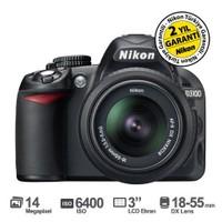 "Nikon D3100 18-55mm DX Kit 14.2 MP 3"" LCD DSLR Dijital Fotoğraf Makinesi"
