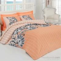 Poppy Cotton Çift Kişilik Nevresim Takımı-Ekru Oranj