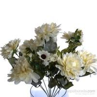 Yedifil Krizantem Dekoratif Çiçek Beyaz 1 Alana 1 Bedava