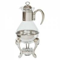 Acr Gümüş Kap Cam Çaydanlık Mumlu Isıtıcı
