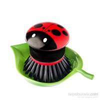 Vıgar Ladybug Tabaklı Küçük Bulaşık Fırçası