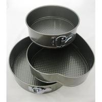 Fame Kitchen Teflon 3'lü Yuvarlak ve Kalp Şekilli Kek Kalıbı Seti YT-63