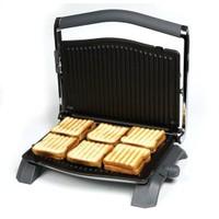 Era SM-21 Press Paslanmaz Çelik Çıkarılabilir Plakalı Izgaralı Tost Makinesi