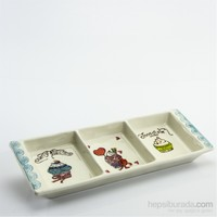 Mukko Home Cupcake Desenli Seramik 3Lü Sosluk Zeytinlik