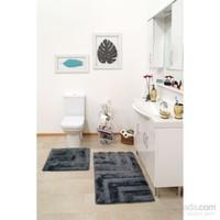 Confetti Remark 2'Li Gri Banyo Halısı