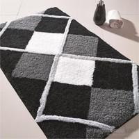 Confetti Tuvana 60x100 cm Siyah Banyo Halısı