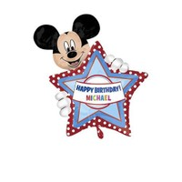Parti Şöleni Mickey Mouse Kişiye Özel Folyo Balon