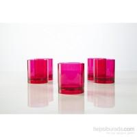 Plabar Kırılmaz Viski Bardağı (Pembe) 6Lı