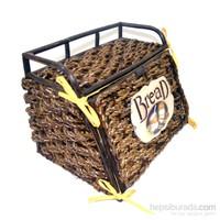 Cosıness Önden Kapaklı Hasır Ekmek Sepeti - Kahverengi