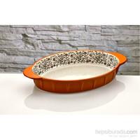 iHouse Bnf04-Porselen Fırın Kabı-Turuncu