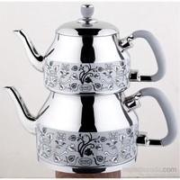 Özkent K-335 Symbol Mega Desenli Çaydanlık Gri