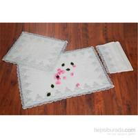 Evlen Home Collection Mihrimah Mint Banyo Seti - 3 Parça