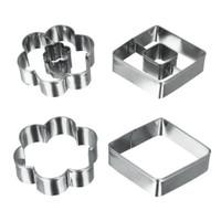 Metaltex Paslanmaz Çelik Çiçek Şekilli Kurabiye Kalıbı ( 4 Lü Set )