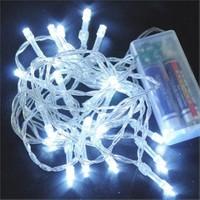 Pandoli Beyaz Kablolu 3 Metre Beyaz Renk Pilli Led Işık