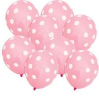 Pandoli 100 Adet Bebek Pembesi Beyaz Puanlı Baskılı Latex Balon