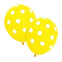 Pandoli 10 Adet Sarı Beyaz Puanlı Baskılı Latex Balon