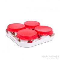 Essenso Desir 4'lü Kahvaltılık Kırmızı