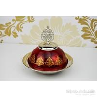 Cosiness Şehzade Cam Şekerlik - Kırmızı