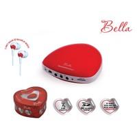 Goldmaster Bella Taşınabilir Hoparlörlü Radyo (Kırmızı) (2 Adet Kulaklık Hediye )