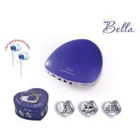 Goldmaster Bella Taşınabilir Hoparlörlü Radyo (Mavi) (2 Adet Kulaklık Hediye)