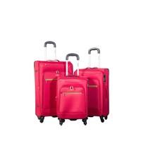 Ççs Kumaş Valiz Ççs5119-Set-Kırmızı