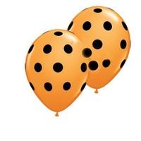 Pandoli Sarı Siyah Puanlı Baskılı Latex Balon 10 Adet