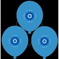 Parti Paketi Nazar Boncuk Mavi Balon 25'Li