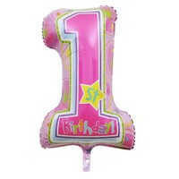 Parti Şöleni 1 Yaş Kız Folyo Balon 1 Adet