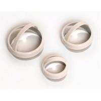 Atadan 3 Lü Yuvarlak Metal Bisküvi Kalıbı-Beyaz-Pd3342