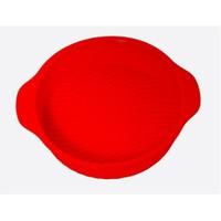 Atadan Yuvarlak Büyük Silikon Kek Kalıbı-Kırmızı