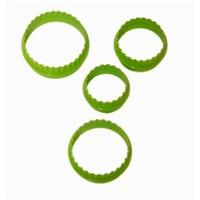 Atadan 4 Lü Yuvarlak Plastik Bisküvi Kalıbı-Yeşil-Sc271
