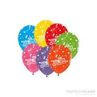 KullanAtMarket Kalp Baskılı Seni Seviyorum Balon