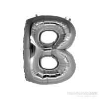 KullanAtMarket B Harf Gümüş Folyo Balon