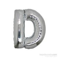 KullanAtMarket D Harf Gümüş Folyo Balon