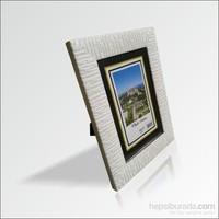 10x15 cm Beyaz Cam Muhafazalı Çerçeve