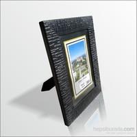 15x21 cm Siyah Desenli Camlı Çerçeve