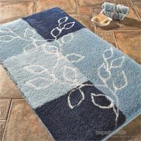 Confetti Lagina 3'lü Set Pastel Mavi Banyo Halısı