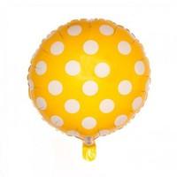 Pandoli Beyaz Puantiyeli Sarı Renk Folyo Balon