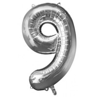 Parti Paketi 9 Sayısı GümüşSupershape Folyo Balon