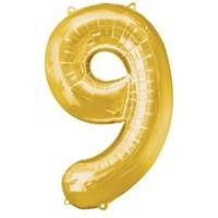 Parti Paketi 9 Sayısı Altın Supershape Folyo Balon